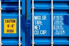 перевозка груза металла контейнера Стоковая Фотография