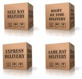 перевозка груза пересылки expres поставки картона коробки Стоковое Фото