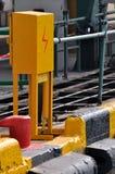 перевозка груза электричества стыковки коробки зоны Стоковое фото RF
