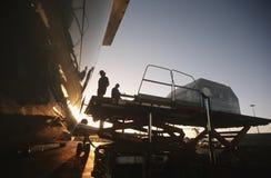 Перевозка загрузки на реактивный самолет Боинга 727 Стоковое Изображение