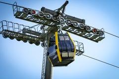 Перевозка подъема кабел-крана в горах alps Стоковое Изображение