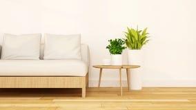 Перевод живущей комнаты чистый design-3D Стоковые Фото