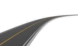 Перевод дороги с двусторонним движением гнуть к право на белой предпосылке иллюстрация штока