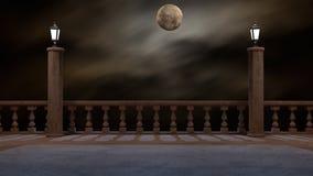 Перевод фантазии 3D балкона Стоковое Изображение RF