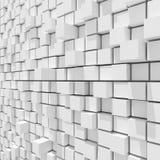 перевод 3d белой кубической случайной ровной предпосылки Стоковое Изображение RF