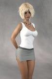перевод 3D молодой женщины Стоковые Фото