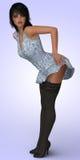 перевод 3D молодой женщины Стоковые Фотографии RF