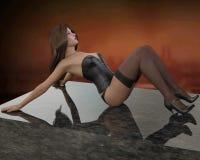 перевод 3D молодой женщины Стоковая Фотография RF