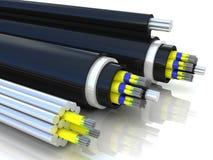 перевод 3d оптического кабеля волокна Стоковое фото RF
