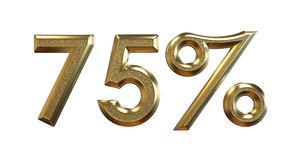 перевод 3d Проценты золота на белой предпосылке иллюстрация вектора