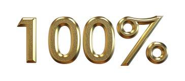 перевод 3d Проценты золота на белой предпосылке Стоковые Фотографии RF