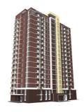 перевод 3d современного жилого дома мульти-этажа Стоковые Изображения RF