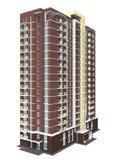 перевод 3d современного жилого дома мульти-этажа Стоковые Фото