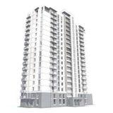 перевод 3d современного жилого дома мульти-этажа Стоковое Изображение