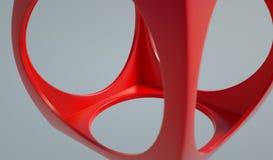 перевод 3D для абстрактного красного куба Стоковое Изображение RF