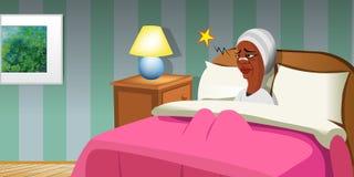 Перевязанная кровать женщины Стоковые Изображения