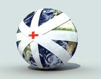 перевязанный глобус земли Стоковое Фото