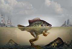 Перегласовка загрязнения окружающей среды генетическая и heritable повреждение ДНК причинили загрязненной окружающей средой с отб бесплатная иллюстрация