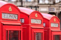 Переговорные будки Лондона Стоковые Изображения RF