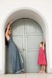 Переговор мамы и дочери Стоковое Фото