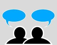 Переговор между 2 людьми иллюстрация вектора
