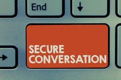 Переговор показа знака текста безопасный Схематическим сообщение обеспеченное фото шифровать между веб-службами стоковые изображения