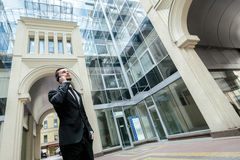 Переговор утра с клиентом Носка g бизнесмена официально Стоковые Фото