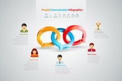 Переговор Infographics иллюстрация вектора