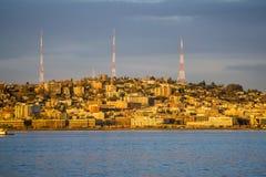 3 передавая башни стоковая фотография rf