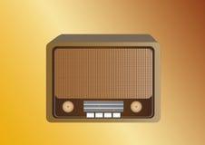 передайте ретро по радио Бесплатная Иллюстрация