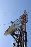 передатчик телевидения радио стоковое изображение rf