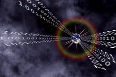 передача данных бинарного Кода Стоковое Фото