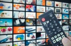 Передача телевидения стены мультимедиа видео- Стоковое фото RF
