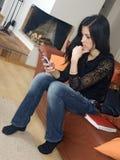 передвижная женщина Стоковые Фотографии RF