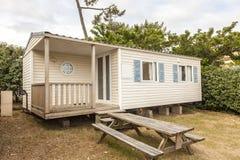 Передвижной дом на располагаться лагерем стоковая фотография