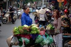 Передвижной рынок овощей Стоковое Изображение RF