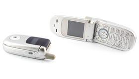 передвижной старый телефон Стоковое Фото