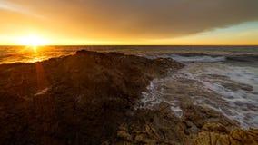 Передвиньте с помощью рукоятки город славного восхода солнца sur de soleil славный стоковая фотография