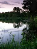 переднее утро озера Стоковое Изображение RF