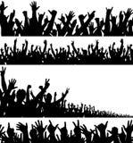 передние планы толпы Стоковое Фото