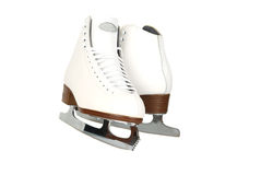 передние профессионалы повелительницы льда снимают коньки Стоковые Изображения RF