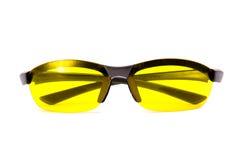 передние солнечные очки осматривают желтый цвет Стоковая Фотография