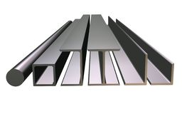 передний взгляд крена металла Стоковое фото RF