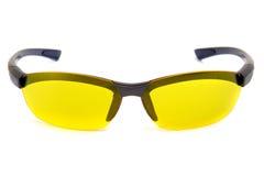 передний желтый цвет взгляда солнечных очков Стоковые Изображения RF