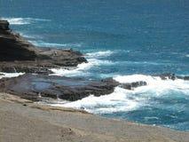 передний океан makapuu Стоковое Изображение RF