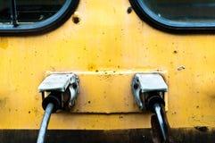 передний старый взгляд поезда Стоковая Фотография RF