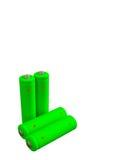 4 перезаряжаемые зеленых батареи eco Стоковые Фотографии RF