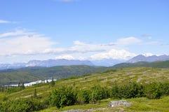 Переименованное Denali, гора в прошлом известная как Mt McKinley поднимает в расстояние Стоковые Фотографии RF