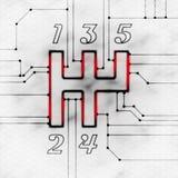 переключение механизма Стоковое Изображение RF