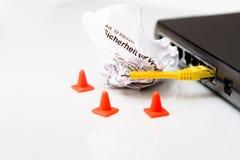 Переключите с отрезком и опорами кабеля Стоковые Фотографии RF